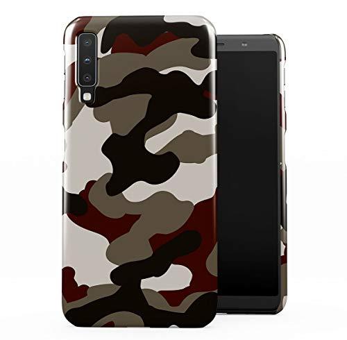 Military Army Desert Camouflage Camo Dünne Handy Schutzhülle Hardcase Aus Hartplastik Hülle Kompatibel mit Samsung Galaxy A7 2018 Handyhülle Case Cover