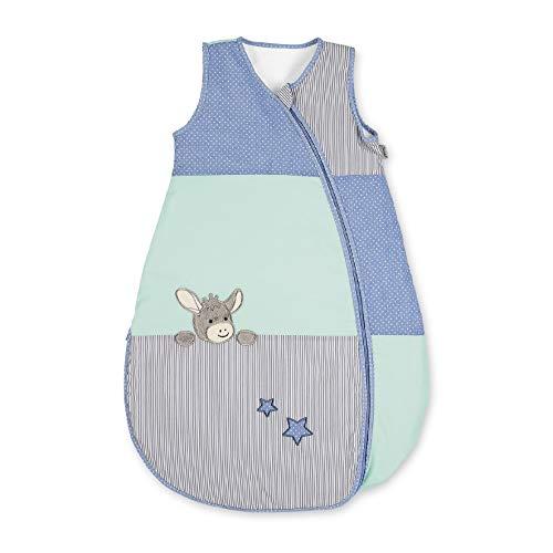Sterntaler Sommer-Schlafsack für Kleinkinder, Esel Emmi, Reißverschluss, Größe: 70 cm, Mehrfarbig