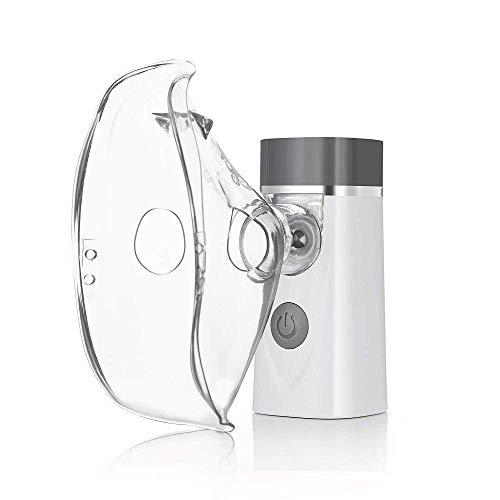 YYSDH Vernebler Ultraschall Inhalator FüR Erwachsener Und Kinder Vernebler InhaliergeräT Portable USB Aufladbar Luftbefeuchter Gesicht Vernebler öLe Wasserdampf