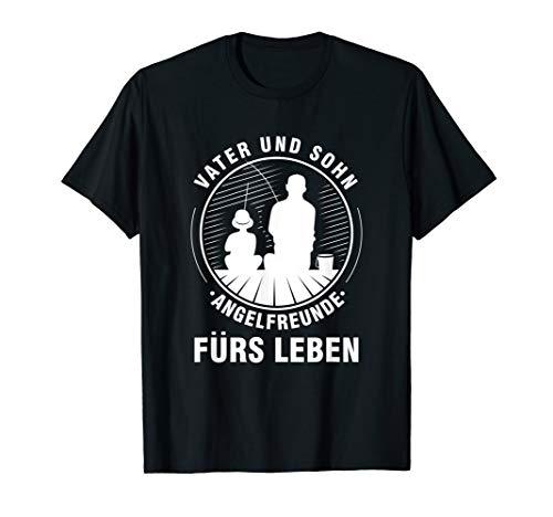 Fischen Angeln Vater Und Sohn Angelrute Fischer Geschenk T-Shirt