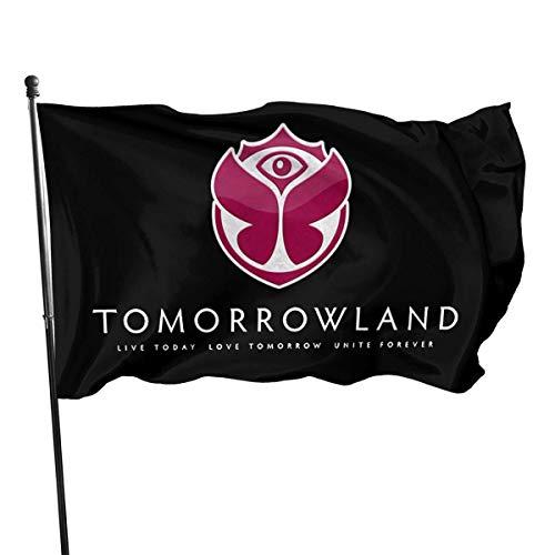Oaqueen Flagge/Fahne Tomorrowland Garden Flag Yard Home Outdoor Decor Durable and Fade Resistant 3'x5' FT