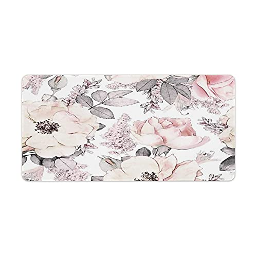 Magnolia Mouse Pad Pattern Customed Desk Organizer Accessories Mat Pad Large Anime Gaming Cute Mousepad for Wireless Mouse Laptop 30x60cm