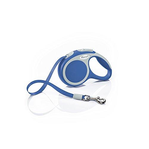 flexi Roll-Leine Vario XS Gurt 3 m blau für Hunde, Katzen und Kleintiere bis max. 12 kg