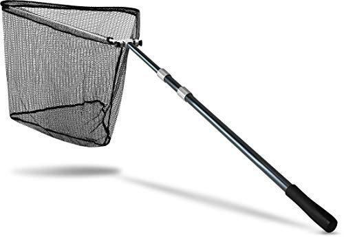 Storfisk fishing & more Raubfischkescher XXL Teleskop Kescher zum Angeln, Netz gummiert Klappmechanismus, Zentimeter:305 cm