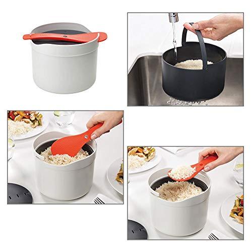 Koken in de magnetron rijstkoker, rijstschep met een groot aantal functies, gebouwd met een waterfilter van zwart rijst, stoompan voor groenten, rijst, pasta