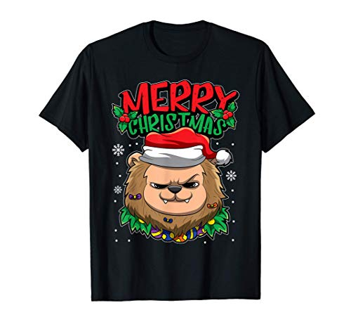 León de la Navidad - Dulces animales navideños Camiseta