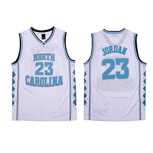 Jordan University of North Carolina Edition 23# Basketball Jersey,Double-Sided Knitted mesh Breathable and wear-Resistant T-Shirt,Suitable for neutral-A-2XL