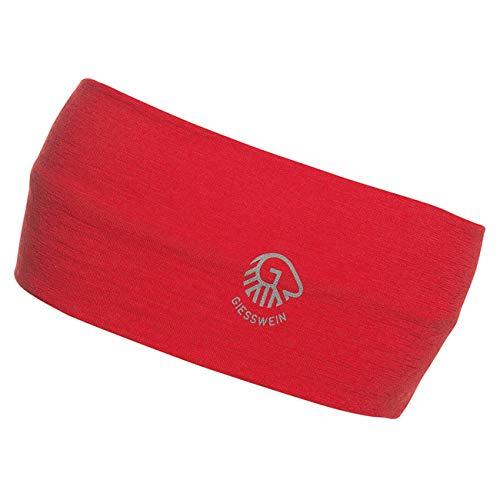 Giesswein - unisex hoofdband van dubbellaags merinojersey voor dames en heren, ademend, vochtregulerend, hoofdband voor mannen en vrouwen, voor wintersport & helmen, skiën