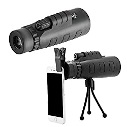 Vinpi Mobile Lens 40x60 hd Monocular Telescope with Mini Tripod and Mobile Camera Clip for All Mobile Phones