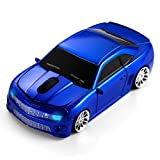 BKLNOG Wireless Car Mouse [Updated] with LED Headlights, 1600 DPI Sports Car Shaped Mouse for Mac, Computers, Blue