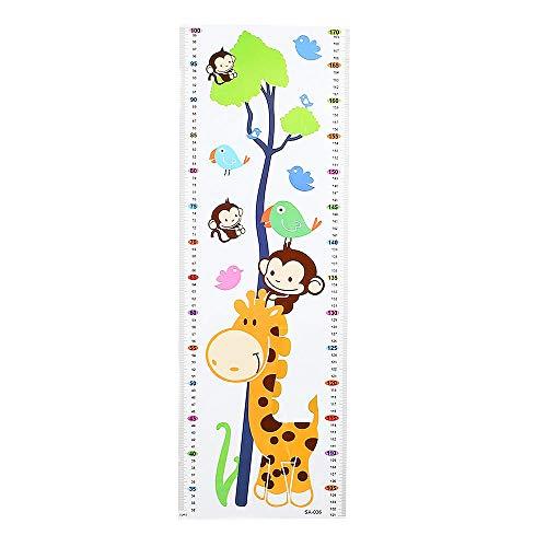 HUMINGG Gráficos de Crecimiento Niños niños decoración decoración de Dibujos Animados Animal Crecimiento Altura Medida Medida 1.7m Etiqueta de la Pared calcomanía (Color : D)