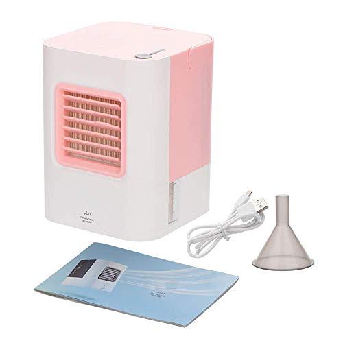 JKUNYU Oficina de escritorio mini condición del aire del ventilador, de carga USB de habitaciones espacio en el escritorio de oficina acondicionador de aire portátil ventilador de refrigeración refrig