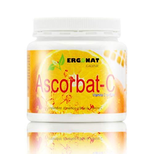 Ergonat Vitamina C en Polvo Ascorbato Sódico – Suplemento Alimenticio Sabor Naranja, Fortalece el Sistema Inmunitario, Reduce el Cansancio y la Fatiga