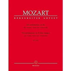 Divertimento für Violine, Viola und Violoncello Es-Dur KV 563. Stimmensatz