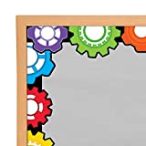 Fun Express Stem - Gears Bulletin Board Border - 12 Pieces - Educational and Learning Activities for Kids