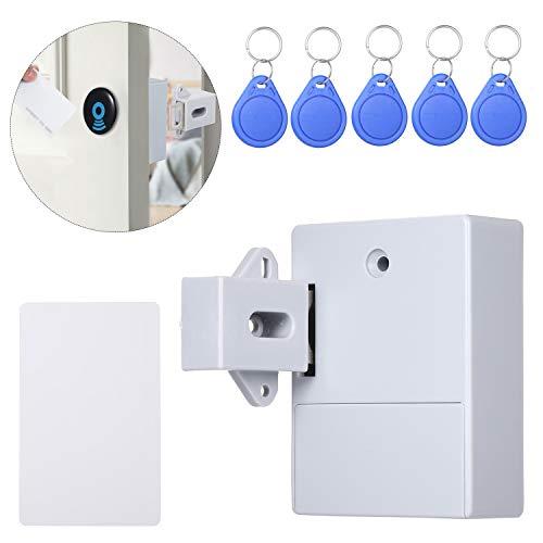 Godyluck Hidden-Cabinet Lock RFID DIY Frei öffnender intelligenter Sensor Kleiderschrank Schuh Schublade elektronisches Schloss