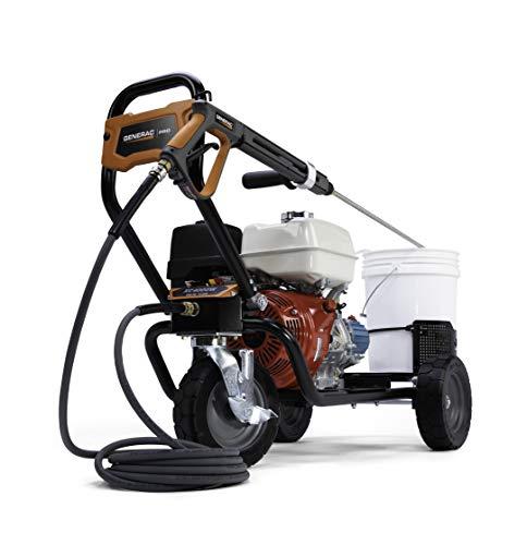 Generac G0088720 4000PSI 3.5GPM Power 50-State/CSA-Honda Engine Commercial Pressure Washer, Orange, Black