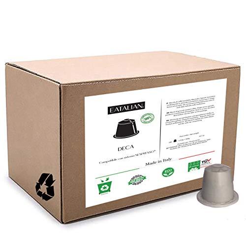 100 capsule Caff� Decaffeinato compatibili con macchina Nespresso