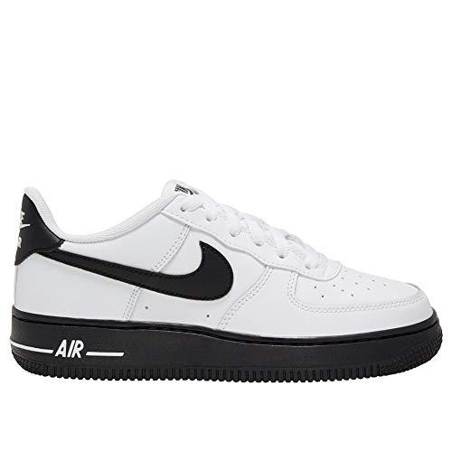 Nike Jungen AIR Force 1 (GS) Basketballschuh, White Black, 40 EU