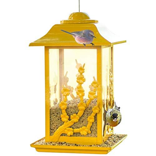 Comederos para pájaros Alimentador de aves,Alimentadores de aves silvestres para exteriores,Pájaro de metal para aletrado Alimentador de semillas de la casa para el jardín Decoración exterior