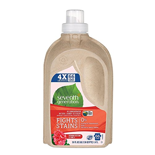 Seventh Generation Geranium Blossoms and Vanilla 4X Laundry Detergent Liquid, 50 Ounce - 6 per case.6