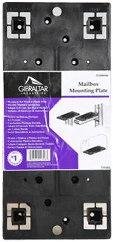 Gibraltar negro Universal de plástico moldeado buzón soporte de montaje, plmb0060