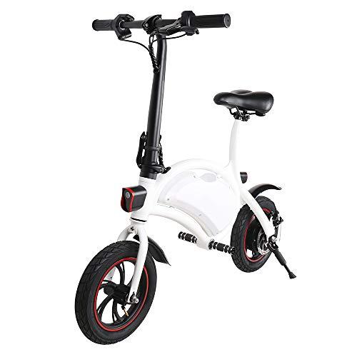 Vélo Électrique de Ville Pliant, Jusqu'à 25 km/h, Vitesse Réglable Noir Bike, 12 Pouces Roues,...