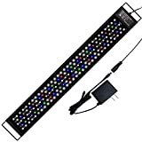 AMZBD Aquarium Light LED with Timer, Dimmable 7 Colors, Programmable, Waterproof, Full Spectrum Fish Tank Light with Extendable Brackets… (30-36 inch(45W))