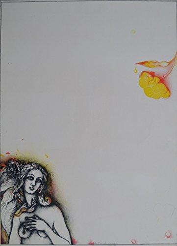Germanposters Bruno Bruni Für Botticelli Original Original Grafik Druck Bild handsigniert nummeriert 70,5x50cm