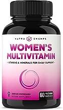 Women's Daily Multivitamin Supplement - Vegan Capsules with Biotin, Vitamins A B C D E K, Calcium, Zinc, Lutein, Magnesium - Non-GMO, Gluten Free Multimineral Multivitamin for Women