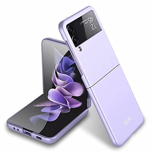 FTRONGRT Hülle für Samsung Galaxy Z Flip 3, Ultra Dünn, Leicht, Anti-Kratzer, Stoßstange Hardcase Handyhülle für Samsung Galaxy Z Flip 3-Lila