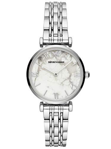 Emporio Armani Damen Analog Quarz Uhr mit Edelstahl Armband AR11170
