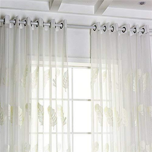 Eastery Bestickte Vorhang Feder Bestickt Garn Balkon Schlafzimmer Fenster Feder Bestickt Einfacher Stil Fenster Bildschirm Size 100 * 250Cm (Blau) (Color : Weiß, Size : Size)
