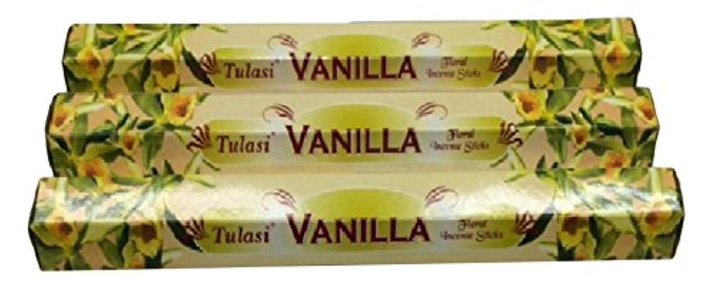 決定床それによってTULASI サラチ STICKS お香 60本入り VANILLA バニラ 640098-3