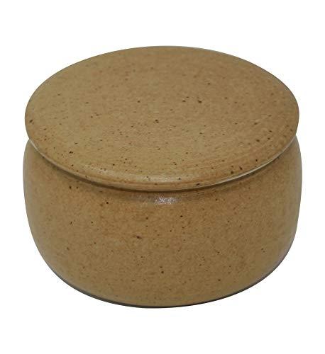 original französische wassergekühlte keramik butterdose 250g III-er-braunstein B-G