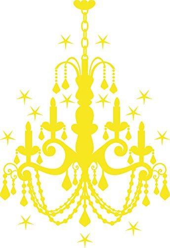 GRAZDesign Wandtattoo Swarovski Kronleuchter, Wandtatoo Deckenlampe, Wandtattoo Schloss Kristall / 83x57cm
