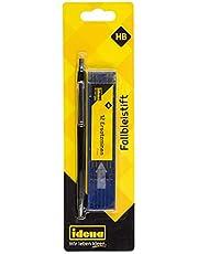 Idena 511235 długopis zapadkowy, 2 mm, HB z 12 wkładami