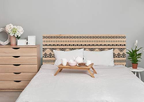 Deco&Fun - Cabecero Cama Madera Impreso Indian Goa 150x60cm para Cama de 135 y 150 - Medidas 100, 115, 150, 200 -Cabecero Original
