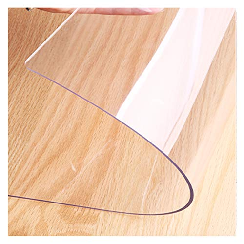 AWSAD Protector de Alfombra de Plástico Alfombra de PVC Transparente Alfombrilla Protectora para Madera/Baldosas Protector Estera Ecológica para Cocina Sala Suelo, 3 Espesores