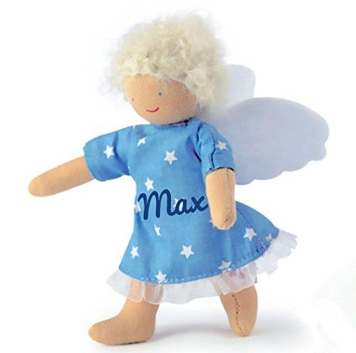 Käthe Kruse 78233 - Beschütz mich Engel blau mit Namen Beschriftung