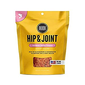 BIXBI Dog Jerky Treats – All-Natural Glucosomine, Antioxidants, Whole Food Nutrition – Skin, Immune and Joint Support – Salmon, Beef and Chicken