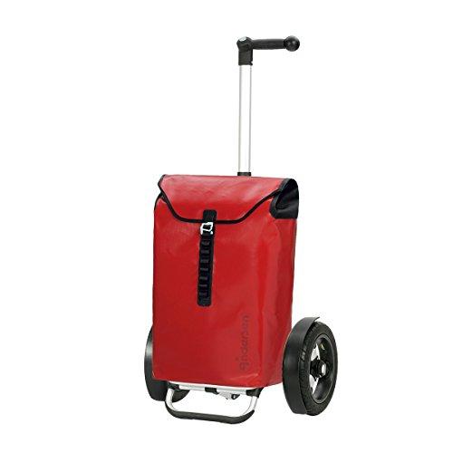 Andersen Shopper Tura mit kugelgelagertem Luftrad 29 cm und Tasche Ortlieb 49 Liter rot