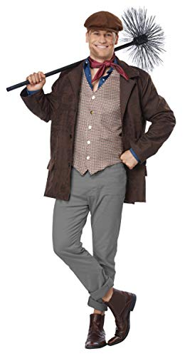 California Costumes Men's Chimney Sweep - Adult Costume Adult Costume, -Brown, Large/Extra Large