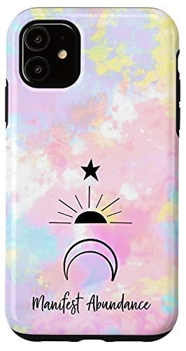 iPhone 11 Manifest Abundance women's cute pink purple blue spiritual Case