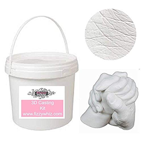 3D Casting Kit - Holding Hands Family Moulding Powder Paint Tools Plaster Mixing Bucket (Set 2 - Silver Paint)