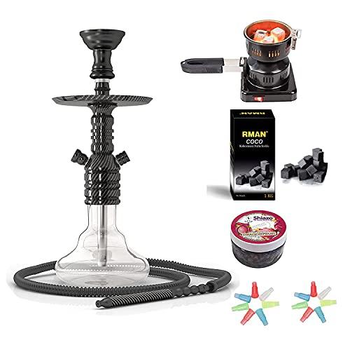 RMAN® Shisha Hookah Narguile Cachimba Aluminio Set...