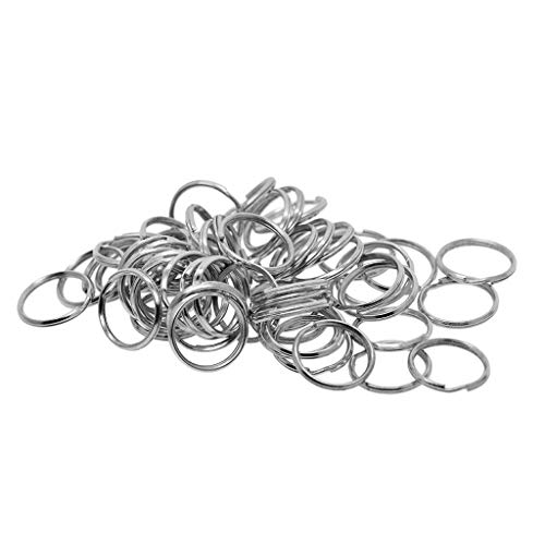 Harilla 50pcs 20mm Metal Round Split Rings Keyring Findings for DIY Jewelry