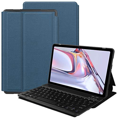 VOVIPO Funda Teclado Español Ñ para Galaxy Tab A7 10.4 2020 Inch, Protectora Cover Funda con Desmontable Wireless Teclado Galaxy Tab A7 10.4 2020 (SM-T500/T507)