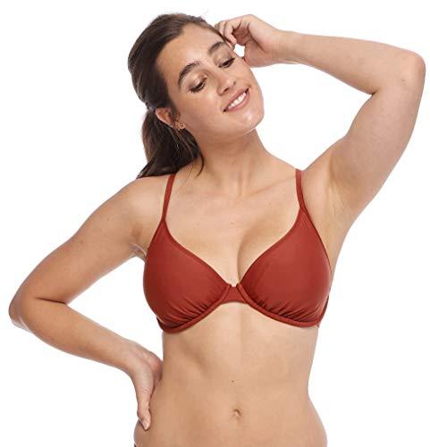 Body Glove Women's Solo Solid Underwire Bikini Top Swimsuit, Smoothies Spice, E-cup