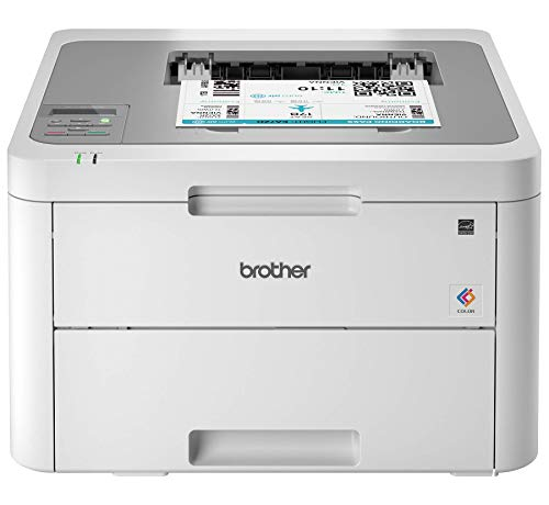 Brother HL-L3210CW Compact Digital Color Printer Providing Laser Printer Quality Results with Wireless, Amazon Dash Replenishment Enabled, White (Renewed)